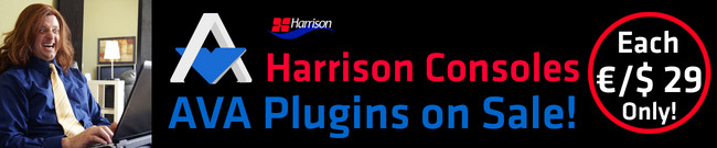 Harrison Consoles: AVA Plugins 60% OFF