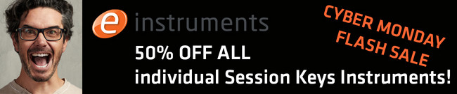 e-instruments Cyber Monday: 50% OFF