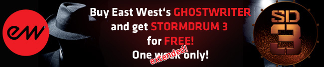 Banner Buy EAST WESTs Ghostwriter and get SD 3 for FREE