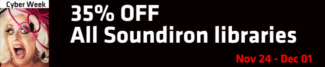 Banner Soundiron, 35% OFF everything