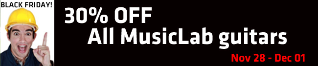 Banner 30% OFF MusicLab Guitars