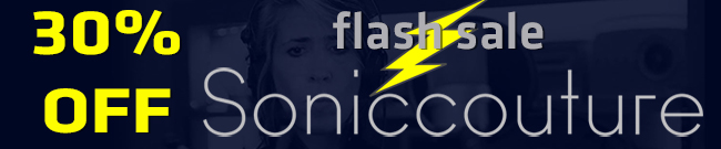 Banner Soniccouture flash sale 30% OFF