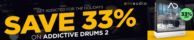 Banner Save 33% on Addictive Drums