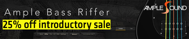 Banner Ample Bass Riffer Introductory SALE
