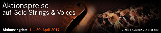 Banner VSL Aktionspreise auf Voices & Solo Strings