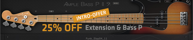 Banner Ample BASS P & Extension 25% OFF