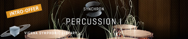 Banner Vienna Synchron Percussion Intro Offer