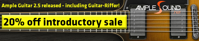 Banner Ample Guitar 2.5 Introductory Sale