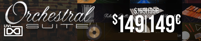 Banner UVI Orchestral Suite 50€/$ OFF