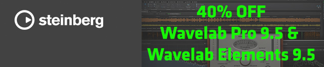 Banner Steinberg Wavelab Pro 9.5 &  Wavelab Elements 9.5 Flash Sale