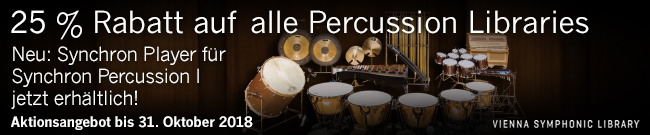 Banner 25 % Rabatt auf alle VSL Percussion-Libraries