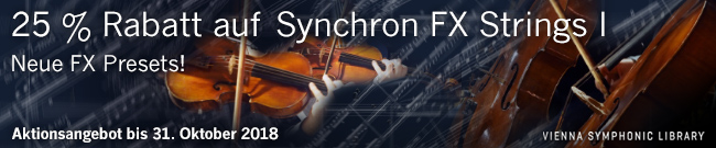 Banner VSL Synchron FX Strings 1  -  25% OFF
