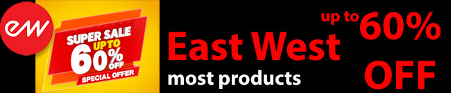 Banner East West Super Sale up to 60% OFF