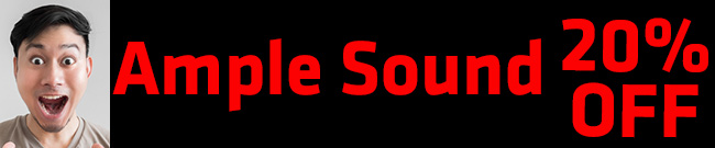 Banner Ample Sound 20% OFF