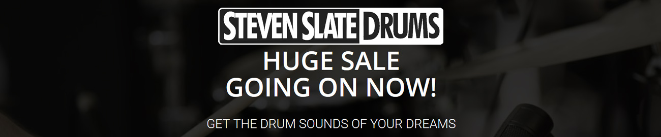 Banner Steven Slate Drums - Huge Sale