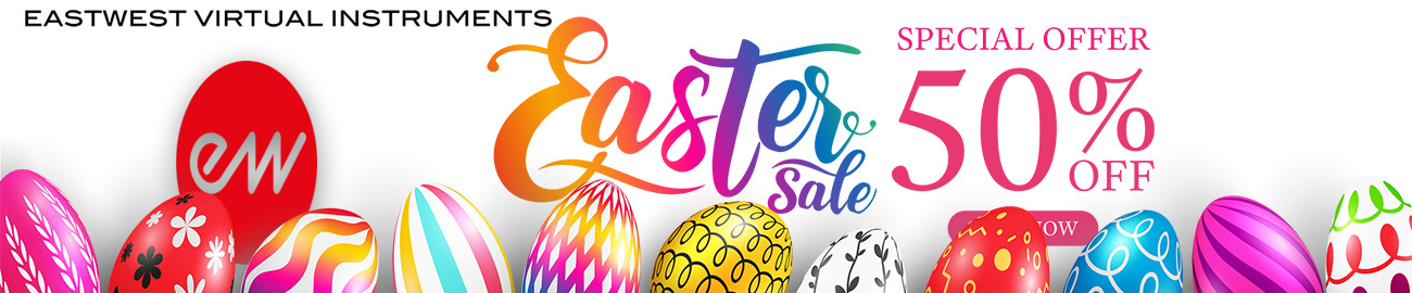 Banner East West Easter Sale 50% OFF