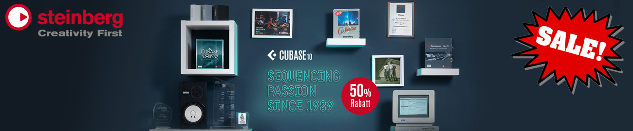 Banner Steinberg 30 Years Cubase - 50% OFF