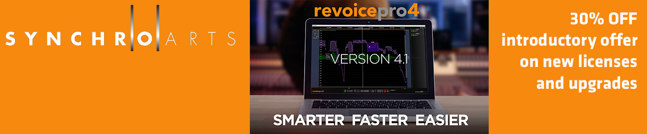 Banner SynchroArts Revoice Pro 4.1 Intro Offer