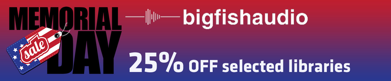 Banner BigFish Memorial Day Sale