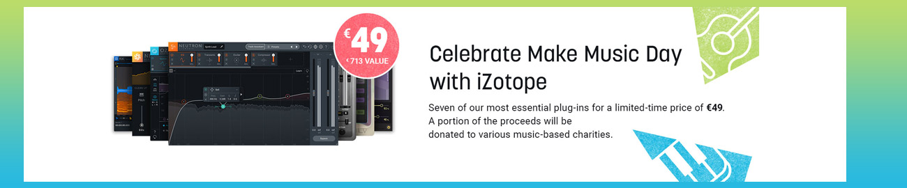 Banner iZotope Make Music Day Special