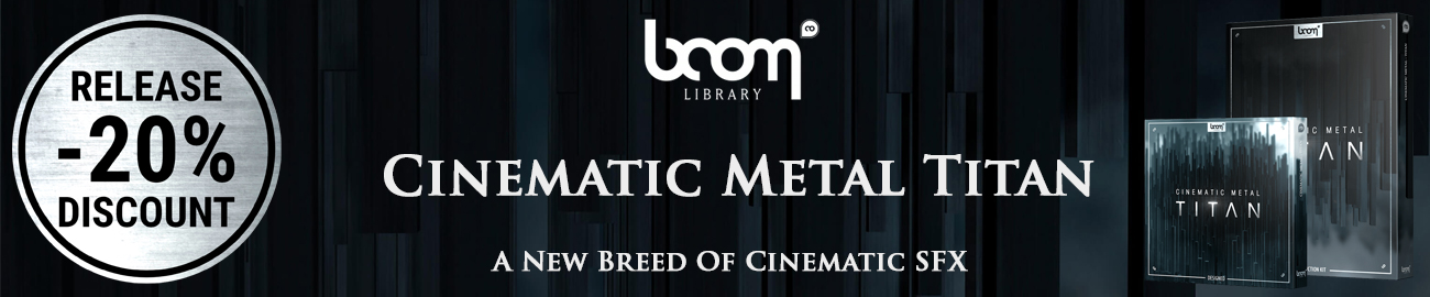 Banner Boom Library - Cinematic Metal Titan - Intro