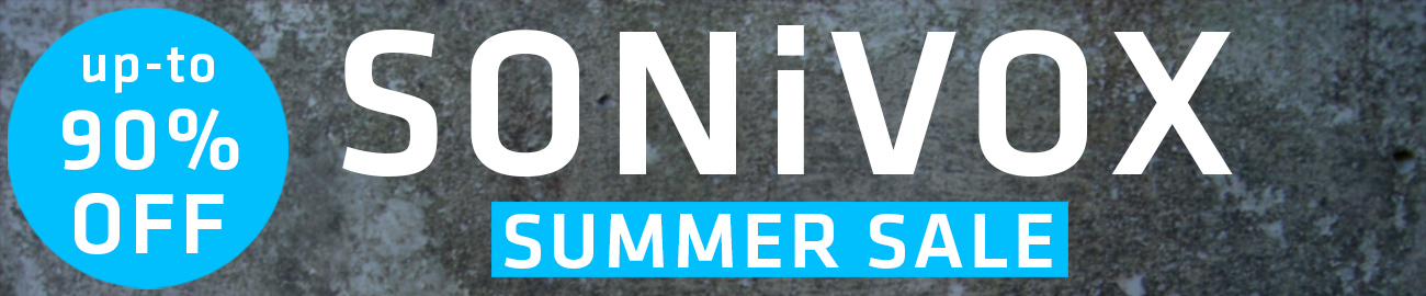 Banner SONiVOX Summer Sale - up-to 90% OFF