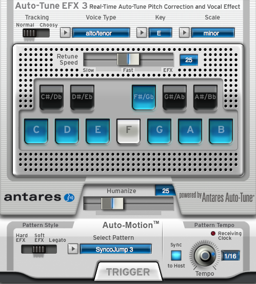 Auto Tune EFX Screen