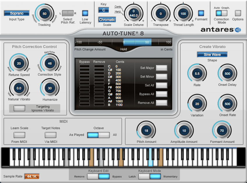 Auto Tune Automatic Mode Screen