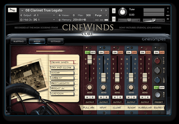 CineWinds True Legato Screen