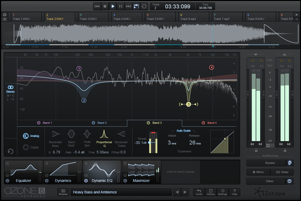 Dynamic EQ Screen