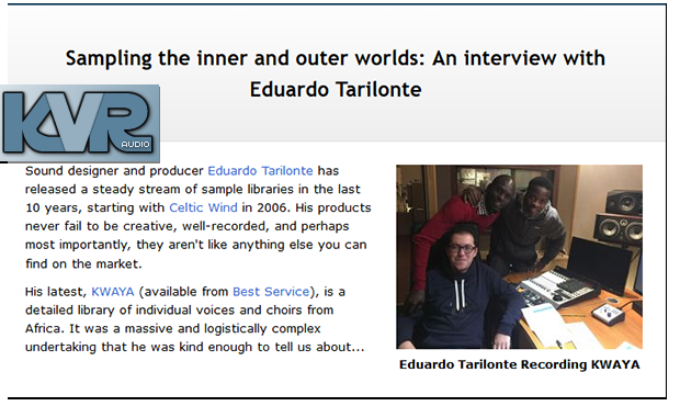 KVR Interview with Eduardo Tarilonte
